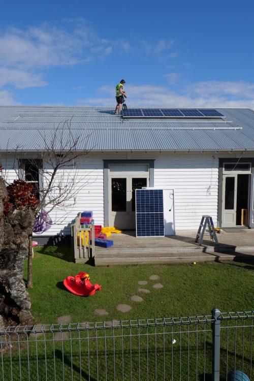 Solar installation in progress